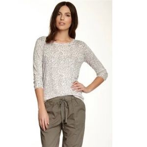 Joie Charcoal Riana Leopard Print Sweater Size L
